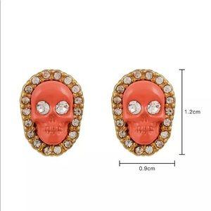 Juicy couture skull earrings